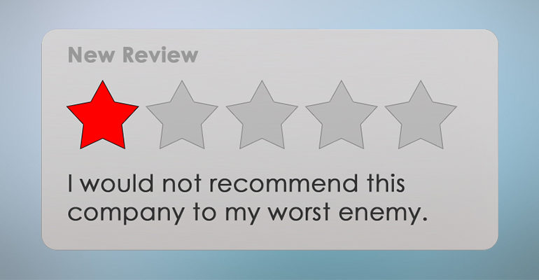 negative reviews